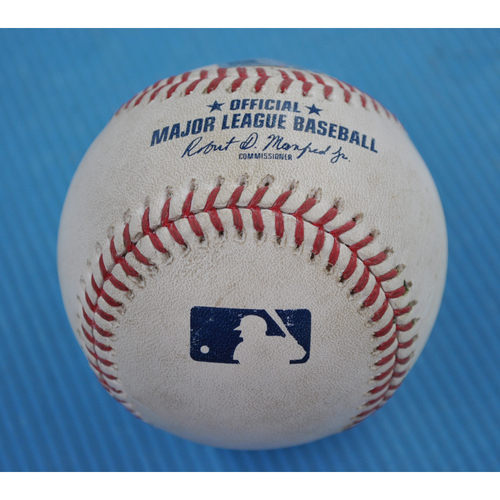 Photo of Game-Used Baseball - 2020 ALCS - Houston Astros vs. Tampa Bay Rays - Game 7 - Pitcher: Charlie Morton, Batter: Martin Maldonado (Swinging Strikeout) - Top 3