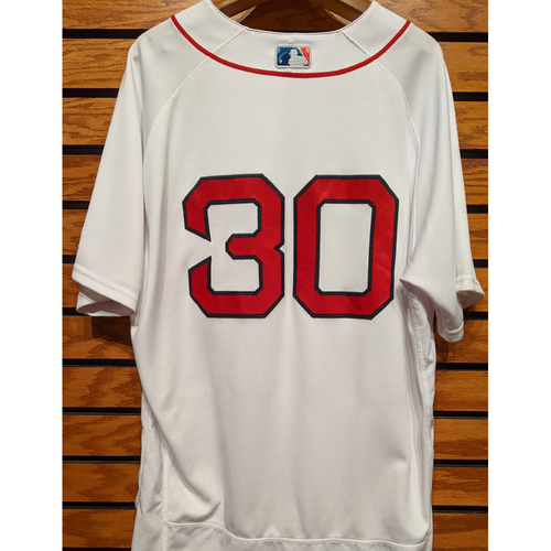 Photo of Coach Ron Roenicke #30 Team Issued Home White Jersey