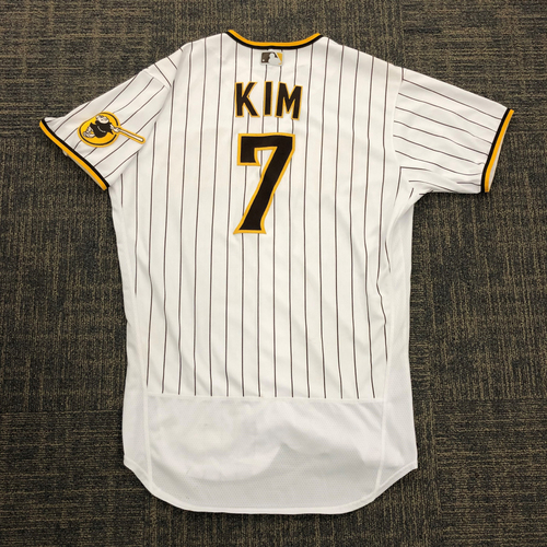 Photo of Ha-Seong Kim Game-Used Career 4th and 5th Home Run Jersey. Worn 4 times Authenticated Jersey.