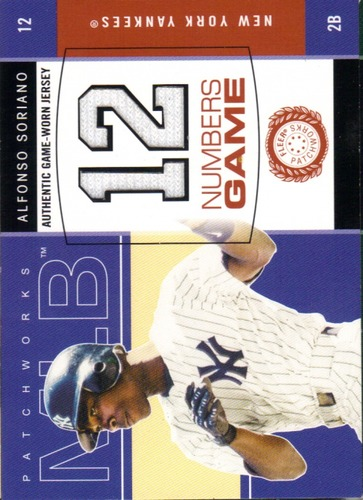 Photo of 2003 Fleer Patchworks Numbers Game Jersey #AS Alfonso Soriano