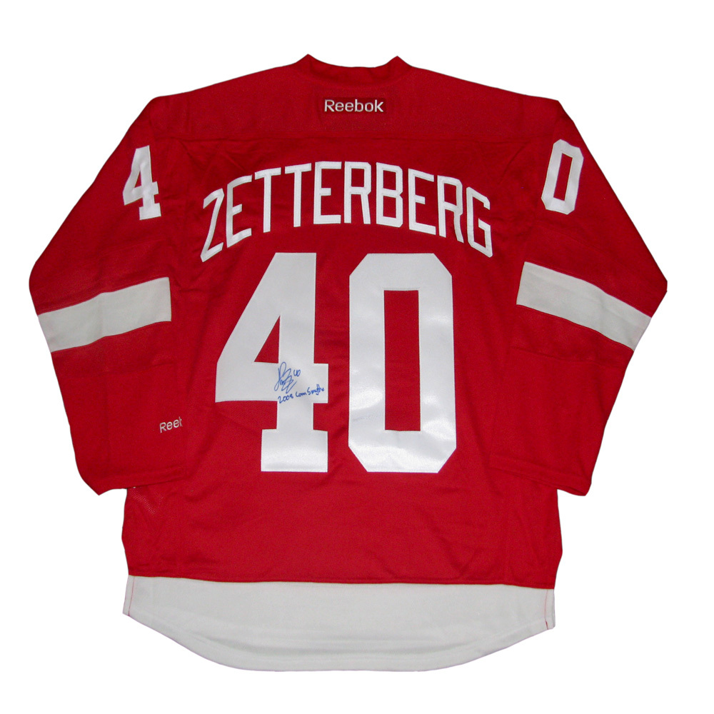 HENRIK ZETTERBERG Signed Detroit Red Wings Red Reebok Jersey with