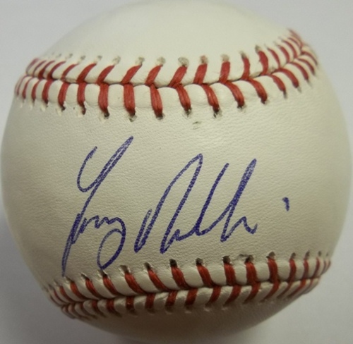 Tony Phillips Autographed Baseball