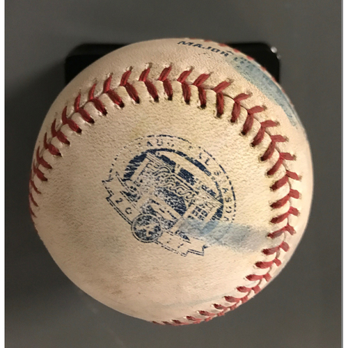 Dansby Swanson Game-Used Hit Double Baseball - 6/9/17