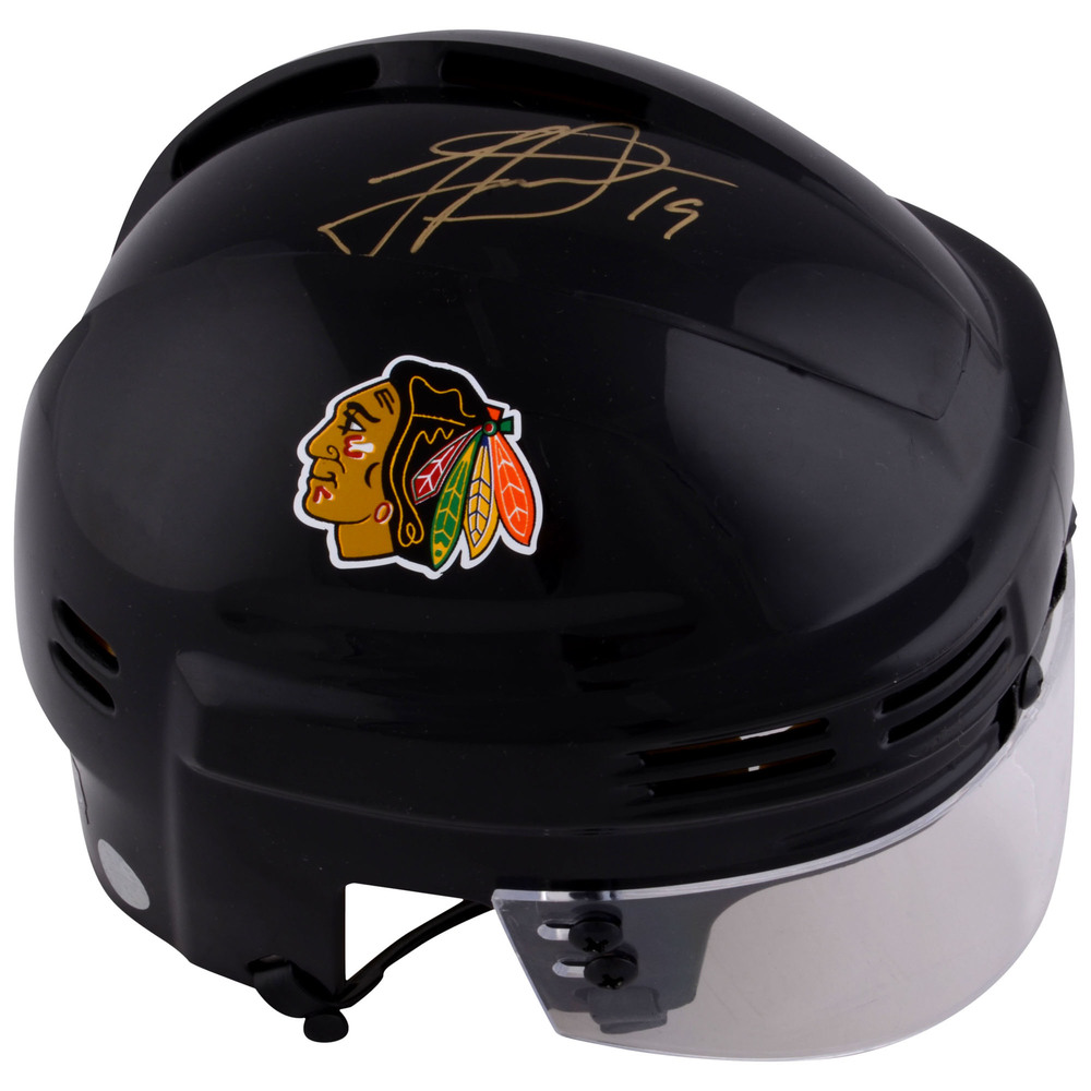 Jonathan Toews Chicago Blackhawks Autographed Black Mini Helmet