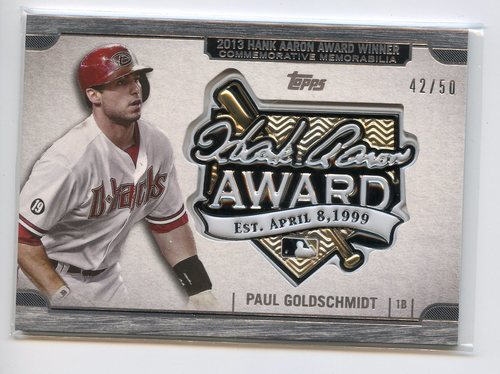 Photo of 2017 Topps Update Hank Aaron Award Relics Black #HAPG Paul Goldschmidt