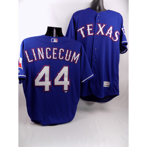 Photo of Blue Team-Issued Jersey - Tim Lincecum