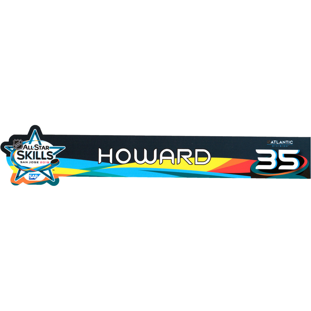 Jimmy Howard Detroit Red Wings Event-Used #35 Locker Nameplate from All-Star Skills Competition