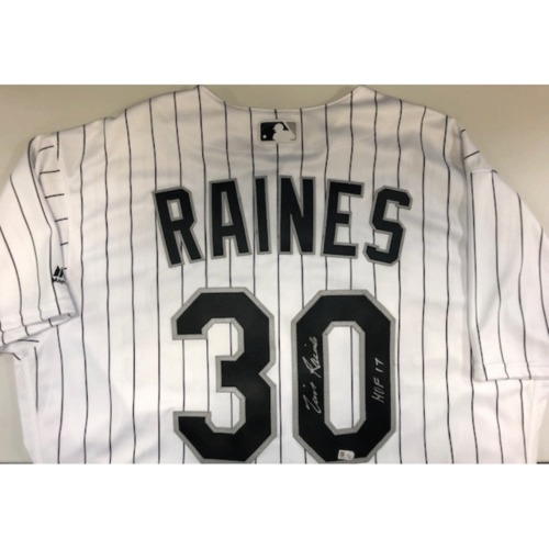 Photo of Tim Raines Autographed Jersey - Size 48