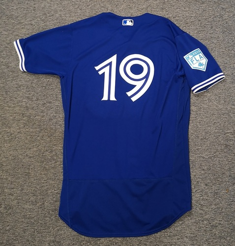 Photo of Authenticated Team Issued 2019 Spring Training Jersey - #19 Andy Burns. Size 44