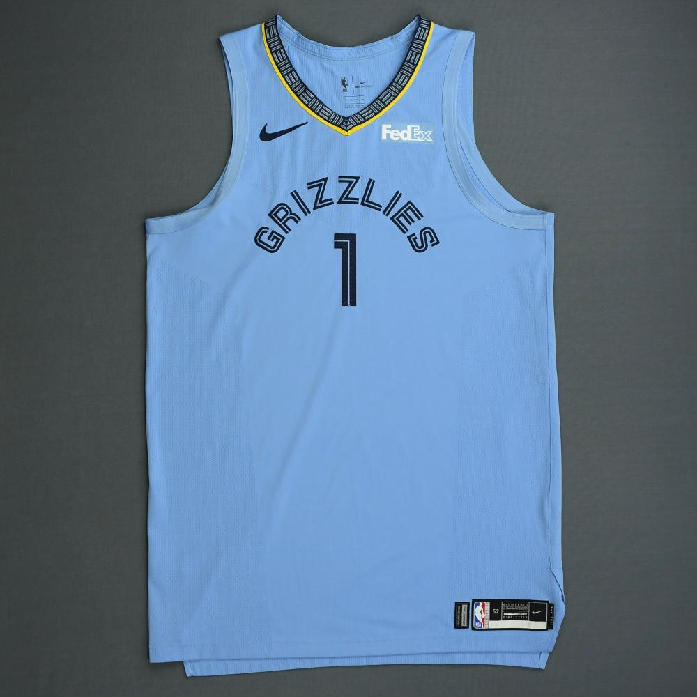 Kyle Anderson - Memphis Grizzlies - 2018-19 Season - Game-Worn Blue Statement Edition Jersey