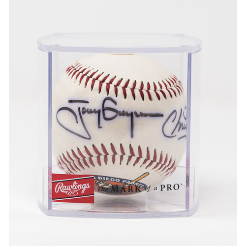 Photo of Tony & Chris Gwynn 60th Anniversary (1936-1996) Autographed Baseball