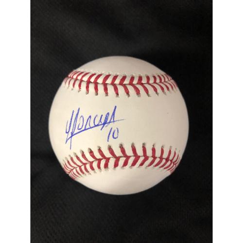 Photo of Yoan Moncada Autographed Baseball