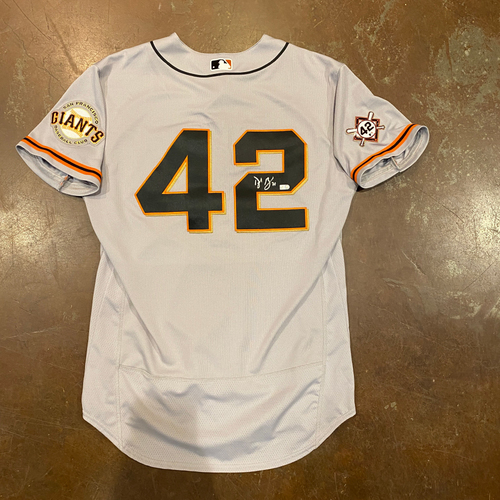 Photo of 2020 Jackie Robinson Day Jersey - Team Issued & Autographed - #71 Tyler Rogers - Size 46