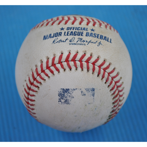 Photo of Game-Used Baseball - 2020 ALCS - Houston Astros vs. Tampa Bay Rays - Game 7 - Pitcher: Jose Urquidy, Batter: Ji-Man Choi (Single to CF) - Bot 6