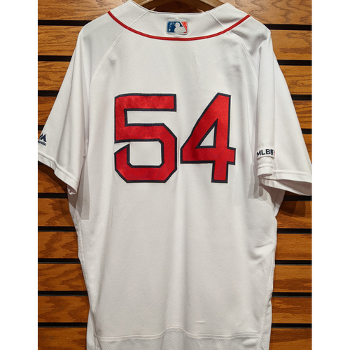 Colten Brewer #54 Game Used Home White Jersey