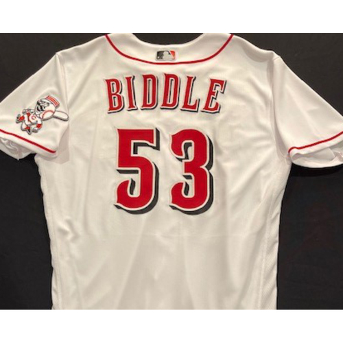 Photo of Jesse Biddle -- 2020 Home White Jersey -- Team Issued -- Size 44