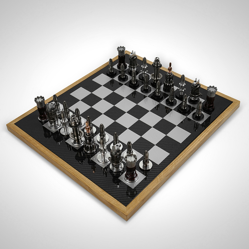 Photo of Formula One Re-engineered Mechanical Parts Luxury Chess Set & Board