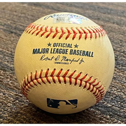 Photo of Shohei Ohtani: Pitched Baseball - Game Used (Jahmai Jones Flyout - 8/25/21)
