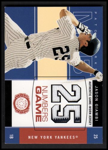 Photo of 2003 Fleer Patchworks Numbers Game Jersey #JG Jason Giambi