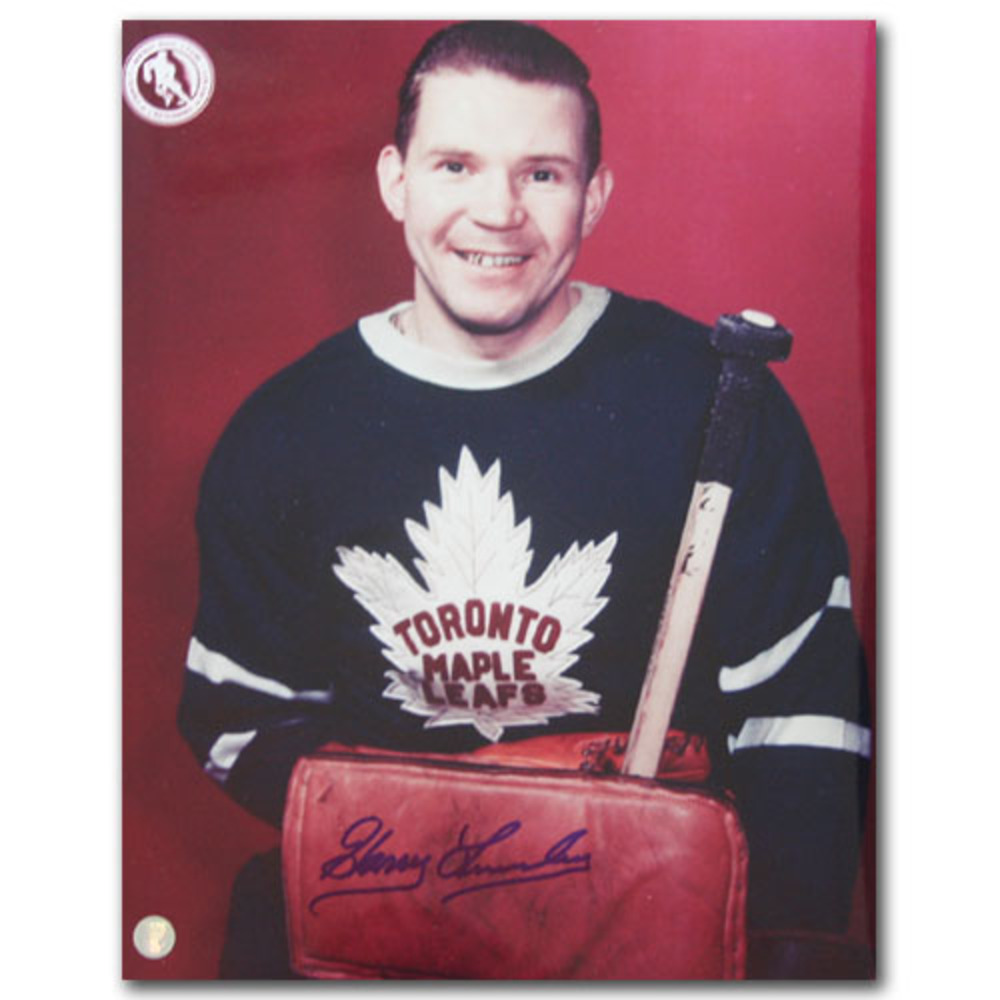 Harry Lumley (deceased) Autographed Toronto Maple Leafs 11X14 Photo