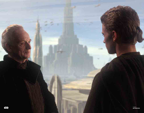 Sheev Palpatine and Anakin Skywalker