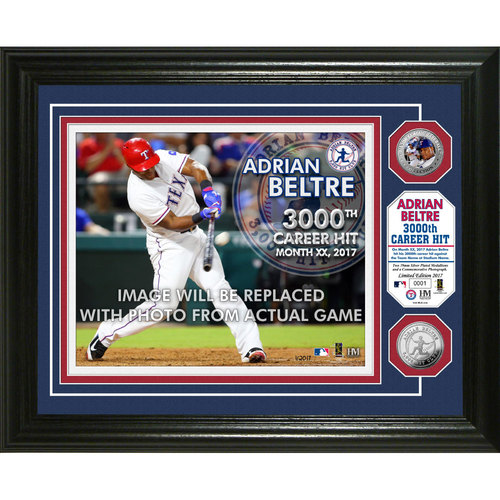 Adrian Beltre 3,000 Career Hits Bronze Coin Photo Mint
