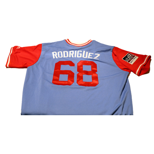 "Photo of Ricardo ""Rodriguez"" Rodriguez Texas Rangers 2017 Game-Used Players Weekend Jersey"