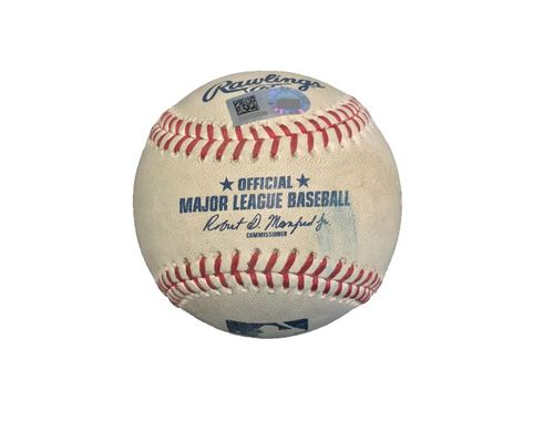 Game-Used Baseball from Pirates vs. Dodgers on 8/22/17 - Taillon vs. Taylor, Foul