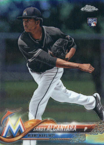 Photo of 2018 Topps Chrome #128 Sandy Alcantara RC