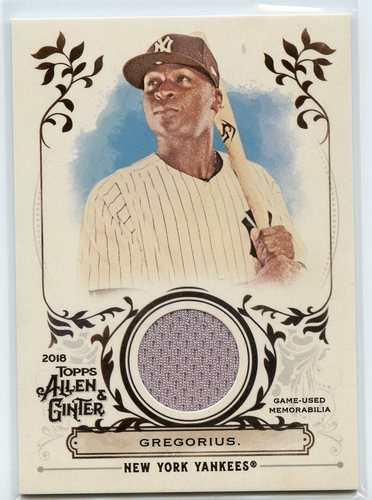 Photo of 2018 Topps Allen and Ginter Relics #FSRADR Didi Gregorius A