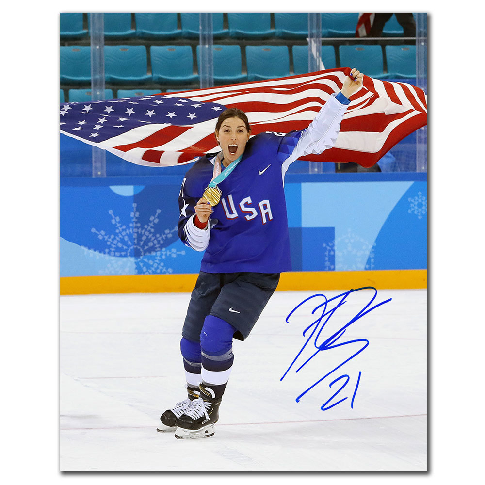 Hilary Knight Team USA 2018 Olympics GOLD MEDAL CELEBRATION Autographed 8x10