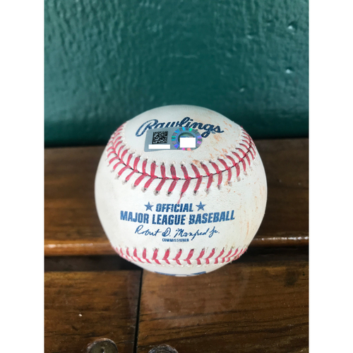 Photo of Cardinals Authentics: Game Used Pitched Baseball by Miles Mikolas to Mike Trout *Single*