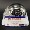 HOF - Raiders Art Shell Signed Chrome Mini Helmet