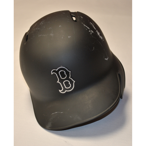 "Photo of Mookie ""MOOKIE"" Betts Boston Red Sox Game-Used 2019 Players' Weekend Helmet"