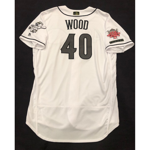Photo of Alex Wood -- Team-Issued Jersey -- Worn for Reds Military Appreciation Days -- Size 48