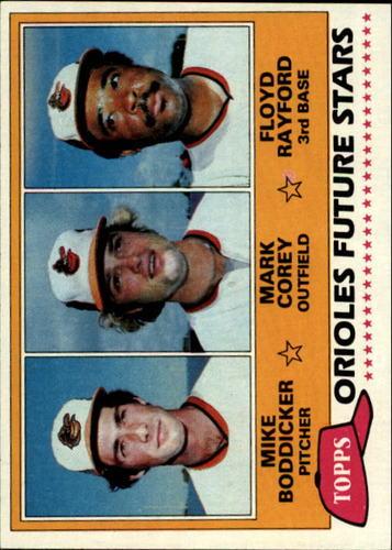 Photo of 1981 Topps #399 Mike Boddicker RC/Mark Corey/Floyd Rayford RC