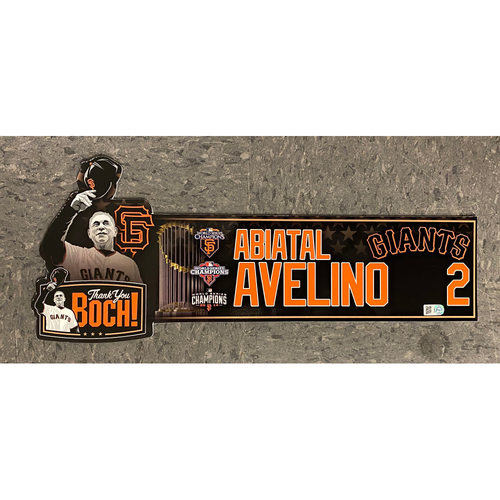 Photo of Team Issued Thank You BOCH! Locker Tag - #2 Abiatal Avelino