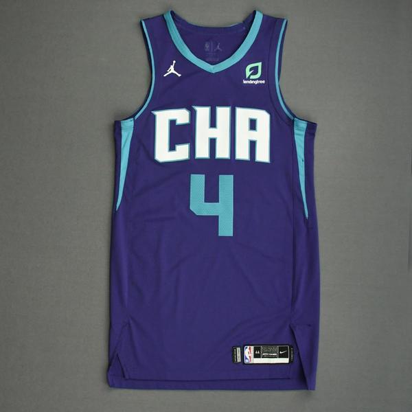 Image of Devonte' Graham - Charlotte Hornets - Game-Worn Statement Edition Jersey - Scored 23 Points - 2019-20 NBA Season