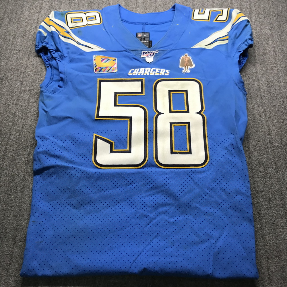 NFL Auction | Crucial Catch - Chargers Thomas Davis Sr. Game Used ...