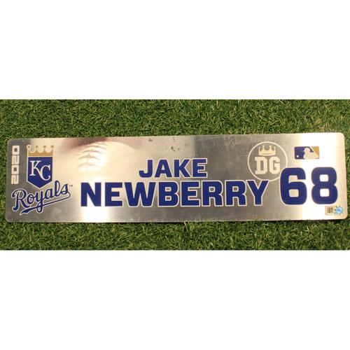 Photo of Game-Used Locker Tag: Jake Newberry #68 (DET @ KC 9/24/20)