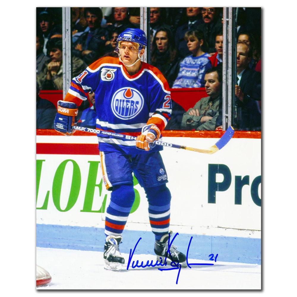 Vincent Damphousse Edmonton Oilers Autographed 8x10 Photo