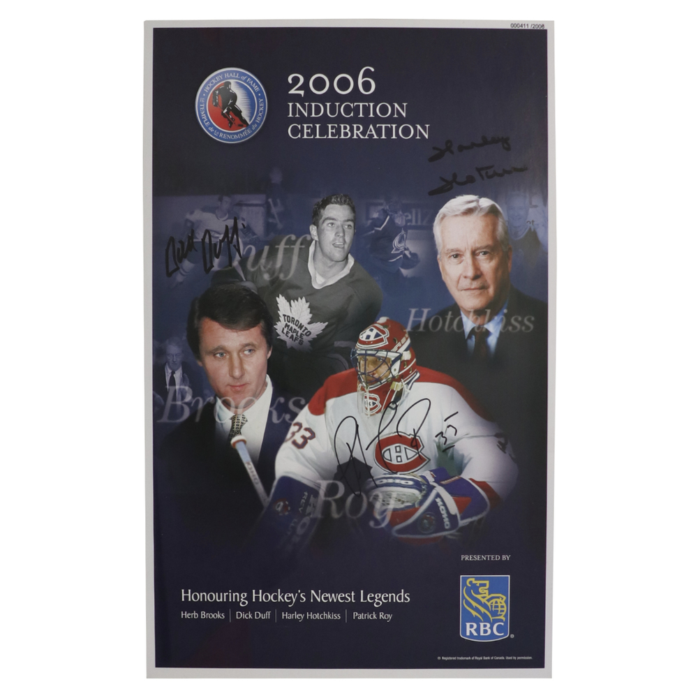 Roy, Duff, Brooks, Hotchkiss - Class of 2006 Induction Signed Poster - Limited Edition