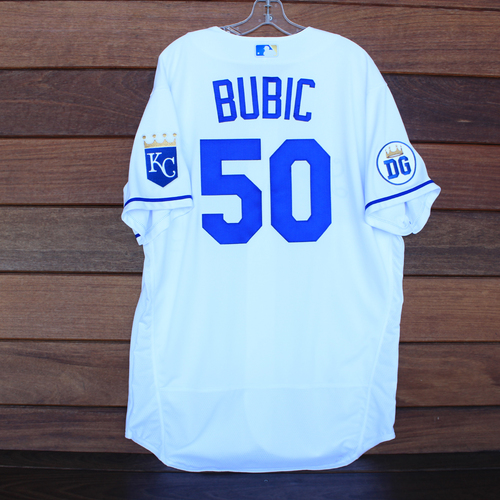 Photo of Game-Used 2020 Los Reales Jersey: Kris Bubic #50 (PIT @ KC 9/12/20) - Size 48