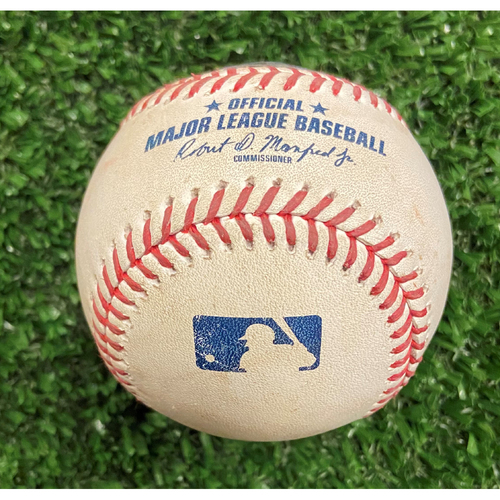 Photo of Game Used Baseball - Pitcher: Will Smith, Batter: Kolton Wong (Pop Up) - Top of 9th Inning, First Out - 10/12/21- NLDS Game 4, Braves Win NLDS