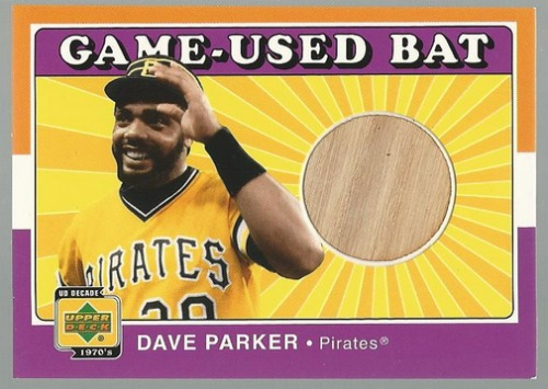 Photo of 2001 Upper Deck Decade 1970's Game Bat #BDP Dave Parker