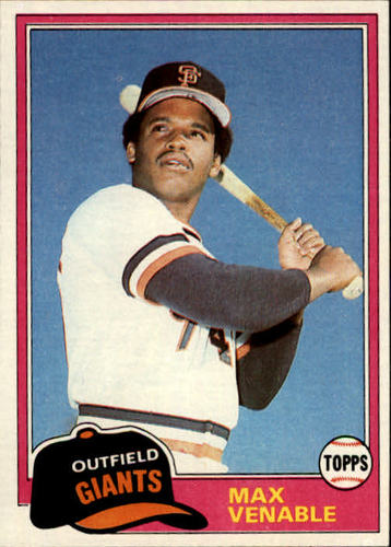 Photo of 1981 Topps #484 Max Venable DP RC
