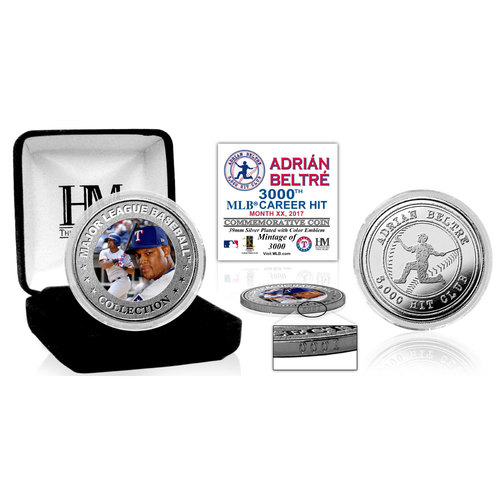 Adrian Beltre 3,000 Career Hits Silver Mint Coin