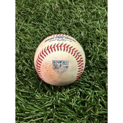 Photo of 20th Anniversary Game Used Baseball: Daniel Robertson double and Joey Wendle RBI single off Lucas Giolito - August 3, 2018 v CWS