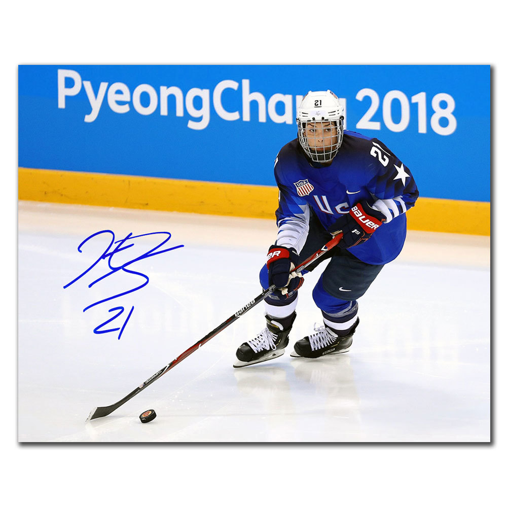 Hilary Knight Team USA 2018 Olympics ACTION Autographed 8x10