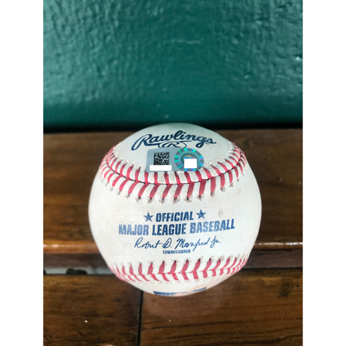 Photo of Cardinals Authentics: Game Used Pitched Baseball by Dakota Hudson to Mike Trout and Justin Upton *Trout Strikeout, Upton Foul*